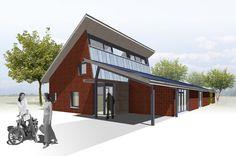 Hott - Sterksel - Goed geïsoleerde woning (Rc 4?) met groot PV oppervlak, dachlichttoetreding op het zuiden en een warmtepomp, zonneboiler, lagetemperatuur vloerverwarming, natuurlijke ventilatie (met warmteterugwinning in winter?).