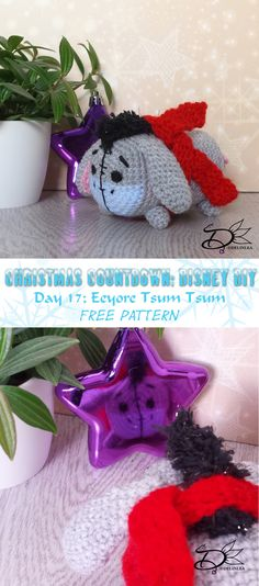 ♥ Day 17: Eeyore Tsum Tsum Amigurumi - Delinlea - My little fantasy world