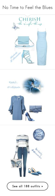 """No Time to Feel the Blues"" by kimberlydalessandro ❤ liked on Polyvore featuring Boohoo, WALL, Tamara Mellon, Mellow World, Milly, River Island, STELLA McCARTNEY, Riah Fashion, Paul Andrew and Chloé"