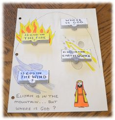 ELIJAH ENCOUNTERS GOD PRINTABLE WORKSHEET