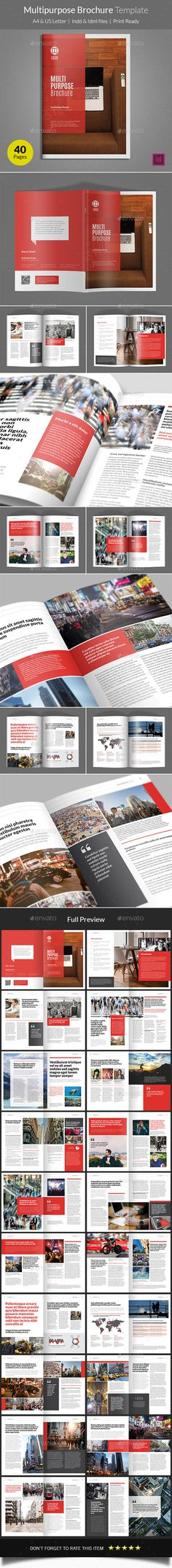 Multipurpose Brochure Template - Informational Brochures This brochure is suitable for companies or institutions in the publication. Download link: http://graphicriver.net/item/multipurpose-brochure-template/15587098?ref=heriwibowo