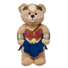 Wonder Woman costume from Build-A-Bear Workshop. Your teddy bear can cosplay as your favorite DC/Marvel superheroes, including Batman, Superman, and the Avengers. Wonder Woman Birthday, Wonder Woman Party, Superman Wonder Woman, Costume Batman, Marvel Dc, Red And Blue Dress, Custom Teddy Bear, Dc Comics, Build A Bear