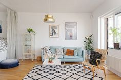 Calmness and Well Being Inspired by One-Room Apartment in Gothenburg - http://freshome.com/calmness-inspired-by-one-room-apartment-in-gothenburg/