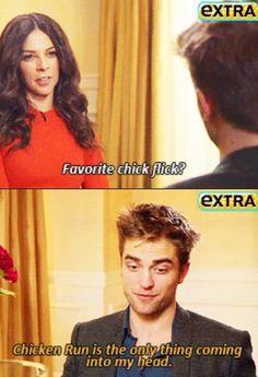 Robert Pattinson humor chicken run