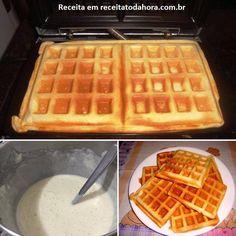 Faça o Waffles Deliciosos para o café da manhã da sua família. Ele pode ser acompanhado por manteiga ou margarina, mel, geleias, requeijão ou caldas e vai