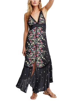 4c6aa40391e1 Women's Free People Paradise Floral Print Maxi Dress, Size Medium - Black