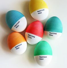 Pantone Easter eggs by How About Orange | Cool Mom Picks