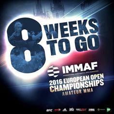 Just 8 weeks to go until the 2016 IMMAF European Open Championships hit Prague... #2016IMMAFeuros #Countdown #begins #8weeks