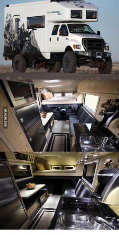 "Off Road Camping ""EarthRoamer"" Xpedition Vehicle. Truck Camper, Kombi Motorhome, Off Road Camper, Campervan, Off Road Rv, Truck Bed, Cool Trucks, Big Trucks, Pickup Trucks"
