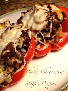 A Healthy Makeover: Philly Cheesesteak Stuffed Peppers