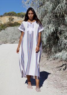 Bedouin Style Resort Caftan Kaftan White-Perfect as Marrakech, Style Caftan, Kaftan Moroccan, Winter Dresses, Summer Dresses, White Kaftan, Halloween Dress, Maternity Wear, Beach Dresses