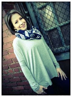 Heather Gray Long Sleeve Piko Top – D. Bradley & Company, Inc $29.99 www.shopdbradley.com