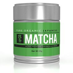 Ultra Premium Pure Natural Organic Matcha Green Tea Powder- Powerful Antioxidant Ceremonial Grade Stone Ground Cultivated in Uji Japan from First Harvest- USDA Organic, JAS Certified- 30 grams per tin * Want to know more, click on the image.