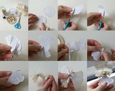 Homemade Angel Christmas Ornaments | Homemade Christmas tree ornaments - 15 easy DIY ideas and decorations