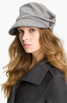 very cute!  in herringbone!  San Diego Hat Three Button Military Cap available at #Nordstrom