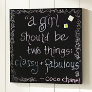 blackboards magnets boards and pinboards  easy to make yourself and surround by frame for inspiration look at pottery barn teen
