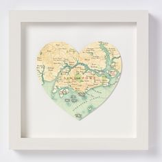 Singapore Vintage Heart Map | Bombus, Gifts Less Ordinary