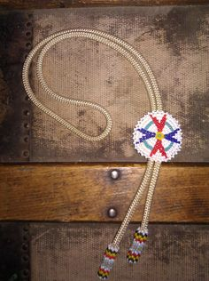 Beaded Bolo Tie / Native American Bolo Tie by Lauralous on Etsy, $20.00