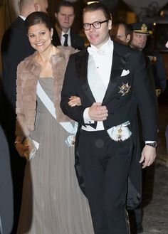 Princesses' lives: Swedish Academy's formal gathering-Crown Princess Victoria and Prince Daniel