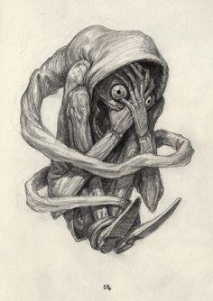 an art print by Charles Lister : Available as prints. by Charles Lister.Normal, an art print by Charles Lister : Available as prints. by Charles Lister. Scary Drawings, Dark Art Drawings, Art Drawings Sketches, Arte Horror, Horror Art, Horror Drawing, Dark Fantasy Art, Creepy Art, Weird Art