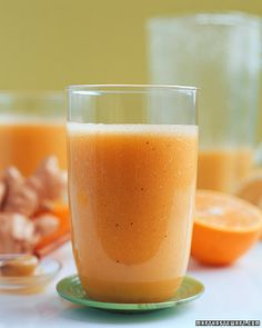 This energizing drink can be served at breakfast, or over ice as a pick-me-up at any other time of day.