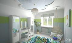 Комната для девочки в салатово-голубых тонах: интерьер, квартира, дом, эклектика, детская комната, 10 - 20 м2 #interiordesign #apartment #house #eclectic #nursery #10_20m2 arXip.com