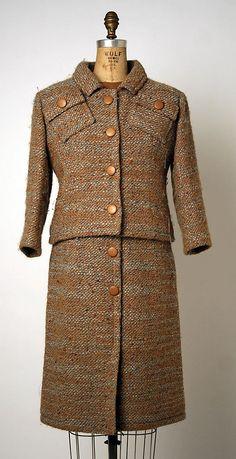 Suit André Courrèges (French, born 1923) Date: 1962 Culture: French Medium: wool, cotton #1960s #1960sfashion