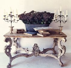 come fun ideas...http://eclecticrevisited.com/2011/12/27/the-weather-outside-is-frightful/console-table-flowers-decorating-ideas/