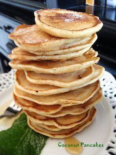 Si te gusta el coco, tienes que probar estos pancakes / Coconut pancakes, for your love ones´breakfast.