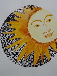 zentangle sun - Google Search