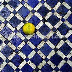 Citron sur zelliges par Valérie Pinard
