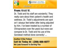 Dr. Todd and his staff are wonderful. They really care about their patient's health and...