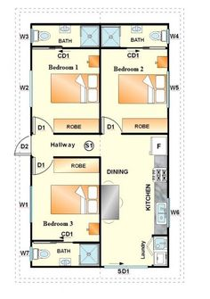 Student accommodation floor layout student housing for 3 bedroom granny flat designs