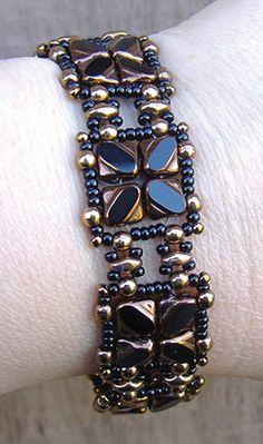 Nexus Bracelet and Earrings pattern at AroundTheBeadingTable.com