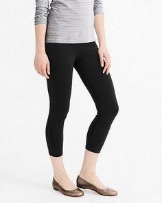 Green Cotton® Knit Leggings - Capri
