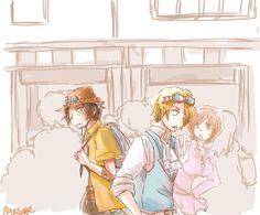 One Piece, ASL, Ace, Sabo, Koala