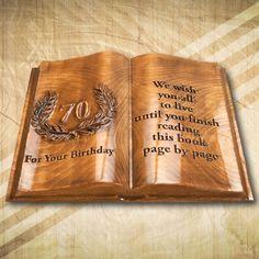 70. születésnapra mit is ajándékozhatunk? Ami kedves, szép, tudatja az ajándékozottal mennyire fontos számunkra és ami örök emlék marad számára. Bamboo Cutting Board, It Is Finished, Reading, Birthday, Word Reading, Birthdays, Reading Books, Libros