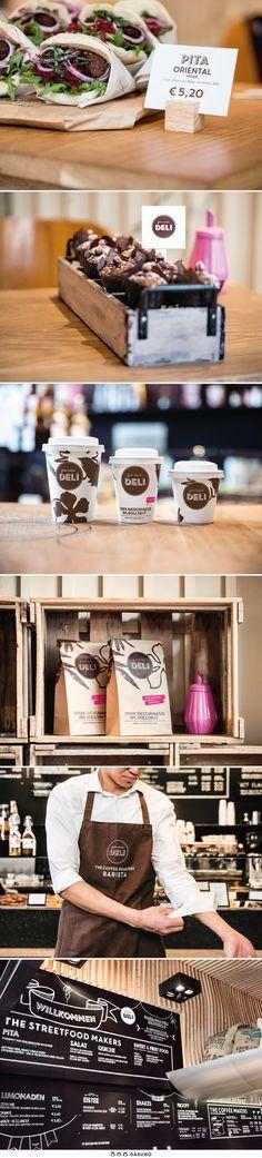 DASUNO // Client: freiraum Deli // Corporate Design // Food To Go, Corporate Design, Deli, Coffee Shop, Store, Inspiration, Coffee Shops, Biblical Inspiration, Coffeehouse