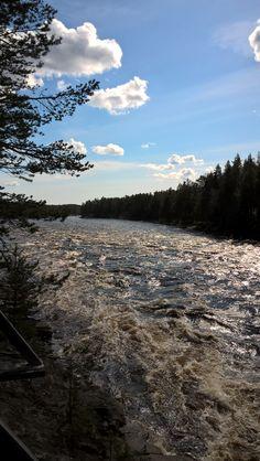 Molkoköngäs,river Ounasjoki