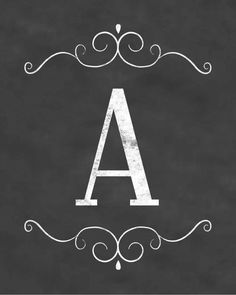 free printable letters - whole alphabet for banners and pendants Printable Letters, Printable Art, Free Printables, Chalkboard Printable, Chalkboard Lettering, Chalkboard Designs, Diy And Crafts, Paper Crafts, Free Prints