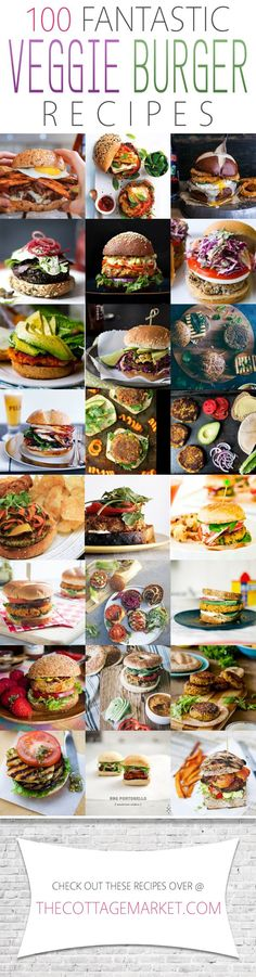 If you are celebrating National Burger Day.why not do it with a delicious Veggie Burger! Check out these 100 Fantastic Veggie Burger Recipes! Vegetable Recipes, Vegetarian Recipes, Cooking Recipes, Healthy Recipes, Vegetarian Barbecue, Vegetarian Cooking, Cooking Tips, Mets, Vegan Dishes