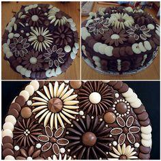 Bolo flores de chocolate !!!