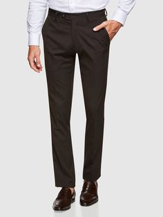 STRETCH TEXTURED TROUSERS   BROWN MEDIUM - Oxford Shop Mens Trousers Casual, Trouser Suits, Oxford Online, Polo Tees, Slim Man, Online Purchase, Workwear, Workout Shirts, Mens Suits