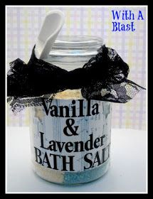 With A Blast: Vanilla & Lavender Bath Salts