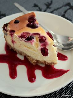 New York karpalo-juustokakku Pancakes, French Toast, Cheesecake, Pudding, Baking, Breakfast, Desserts, Food, Morning Coffee
