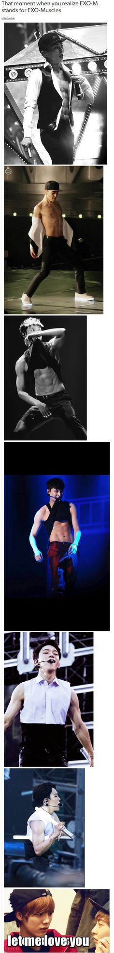 That moment when you realize EXO-M stands for EXO-Muscles
