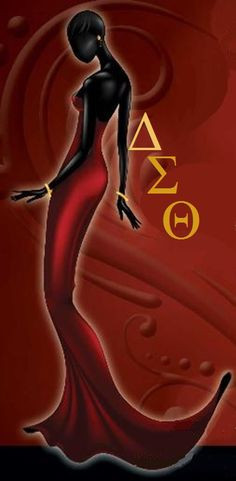 ART~ Red Hot And Sultry. . . Especially For You. But LOOK!  DON'T Touch!. . . Or You May Get Burned Too!~ Delta Sigma Theta