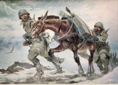 "Nikos Deja Vu - Remembering the October 1940 28 October 1940 Celebration commemorating October when Greece flatly refused to yield to the Axis powers request for ""free passage"" through. Greek Soldier, 28th October, Greek History, Camel, Greece, Horses, Artist, Painting, Animals"