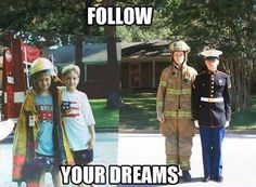 Follow your dreams! You can't change you can't transform...if you don't try. #TransformationTuesday  #FirefightersMerchandise #FFM #firefighters #GCS