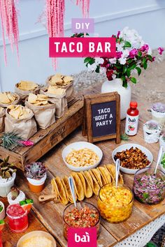 Host a flavorful fiesta this Cinco de Mayo with Watermelon Margaritas mixed with Bai and a DIY Taco Bar